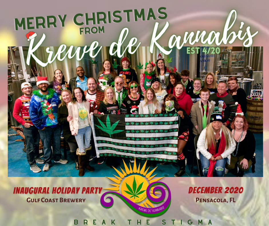 Krewe de Kannabis Holiday Party Group Pic